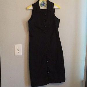 Banana Republic size 6 black sleeveless dress